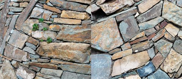 Artisan et ami de la pierre, Paolo Gasparoto construit d'étonnants murs paysage.