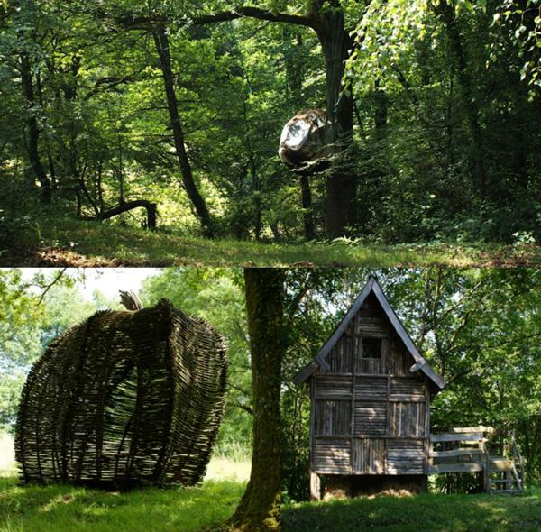 les créations de Louis Cassat — mi sculptures, mi cabanes—, ont apporté un renouveau attendu dans l'utilisation contemporaine du châtaignier.